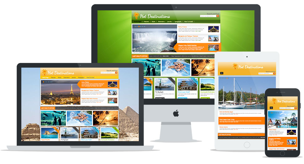 Responsive Joomla Travel Template