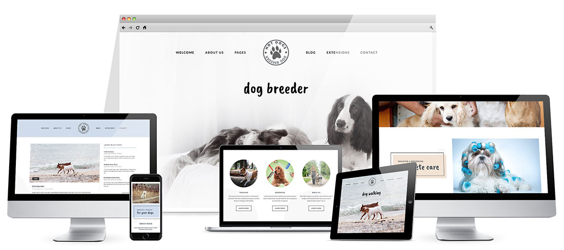 Responsive Dog Template