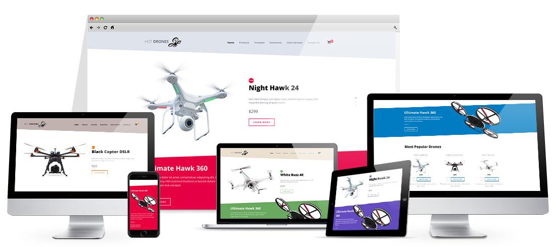 Responsive Drones Template