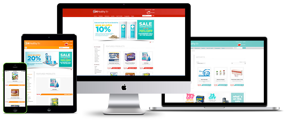 Responsive Joomla Pharmacy template