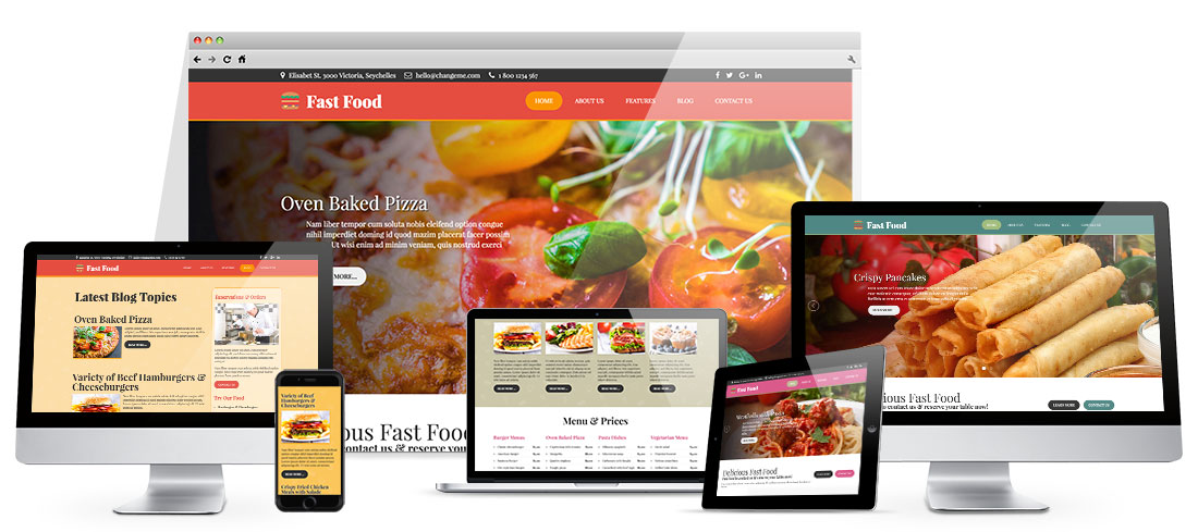 fast food template hotthemes