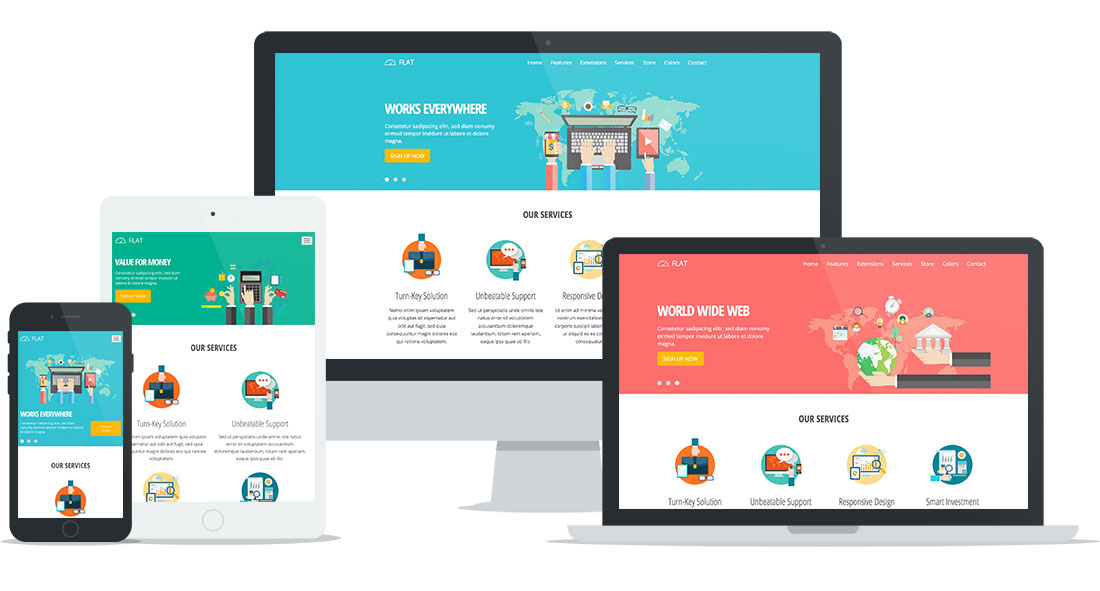 Flat joomla template hotthemes for Joomla template creator open source
