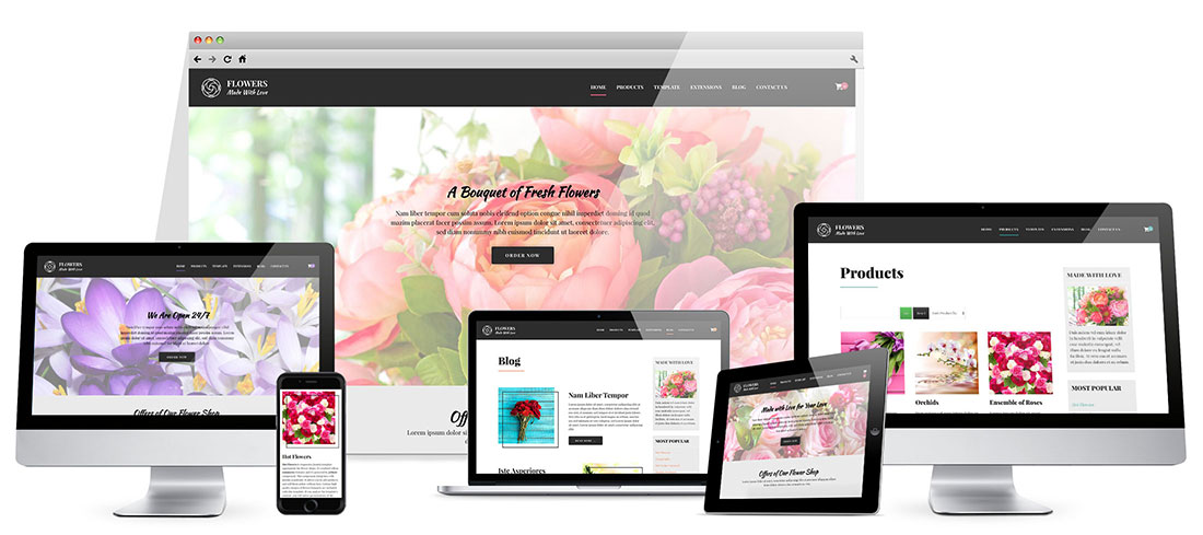 Joomla Flowers Template