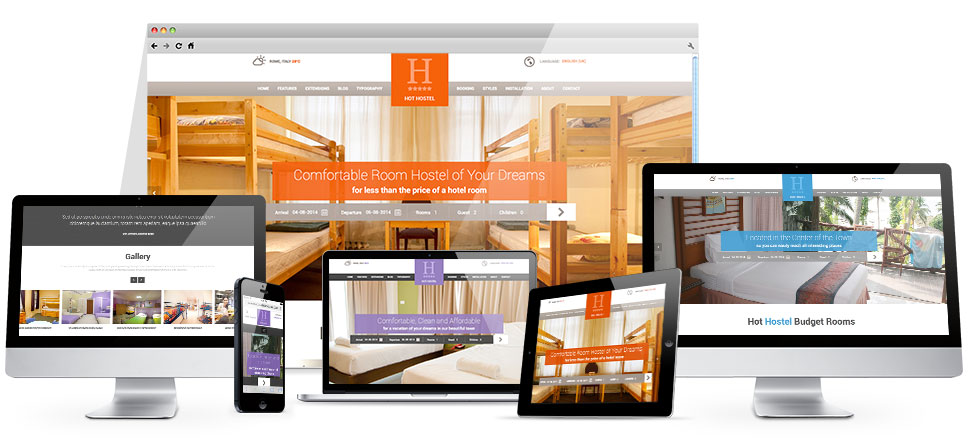 Joomla hostel template hotthemes for Joomla hotel template