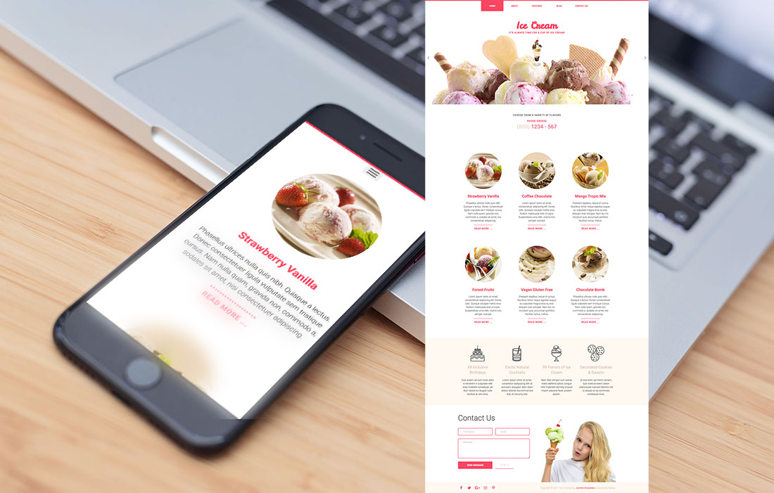 Responsive Ice Cream Template