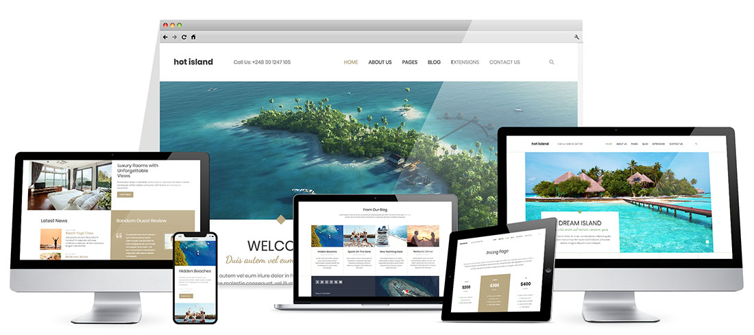 Responsive Island Template