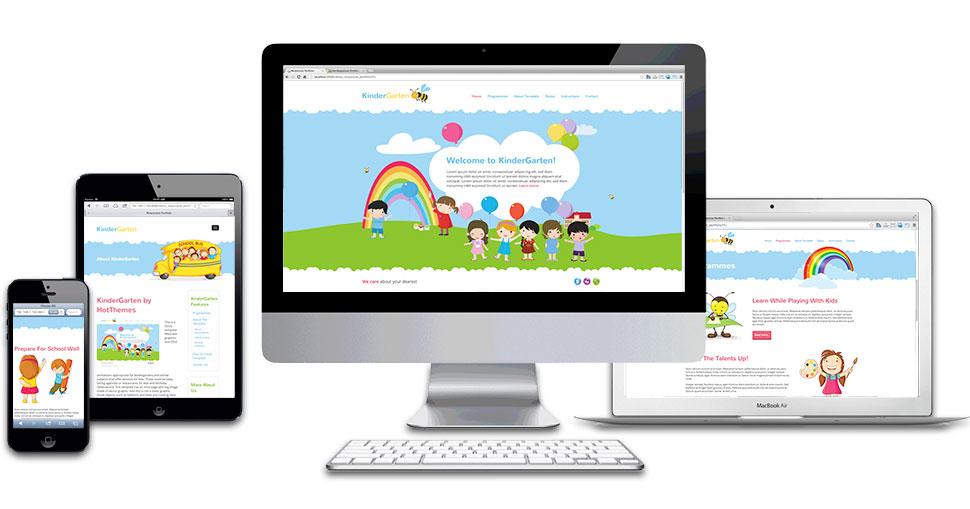 kindergarten template hotthemes
