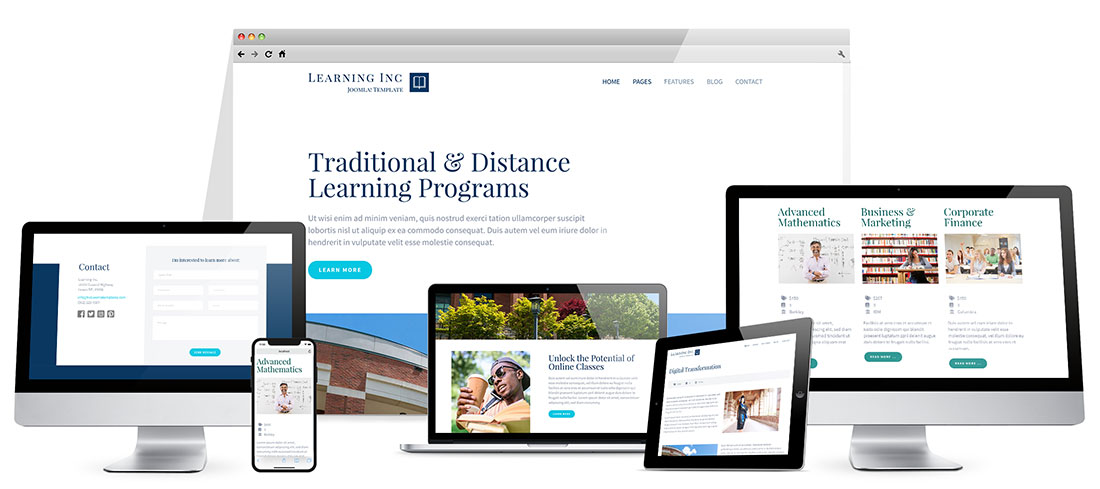 Responsive Learning Joomla Template