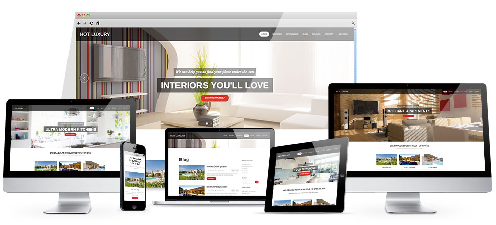 Luxury template hotthemes for Joomla hotel template