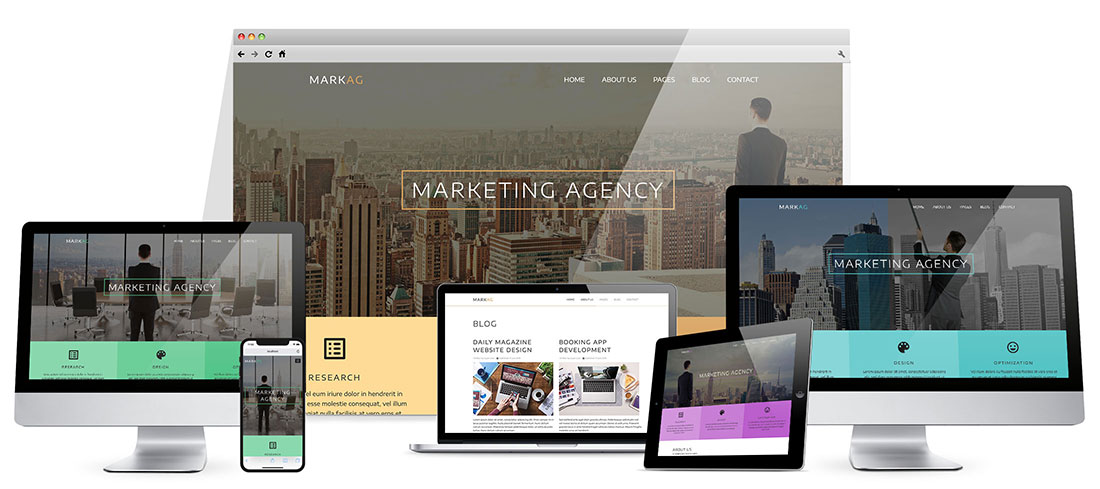 Responsive Marketing Agency Template