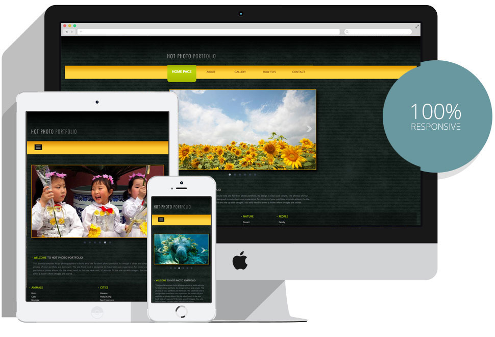 responsive joomla photo portfolio template