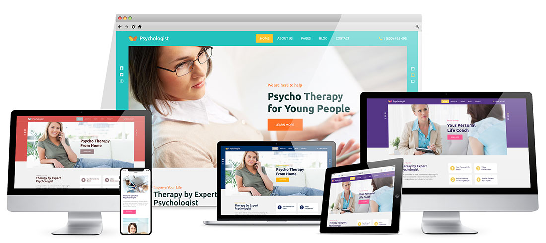 Responsive Psychologist Template