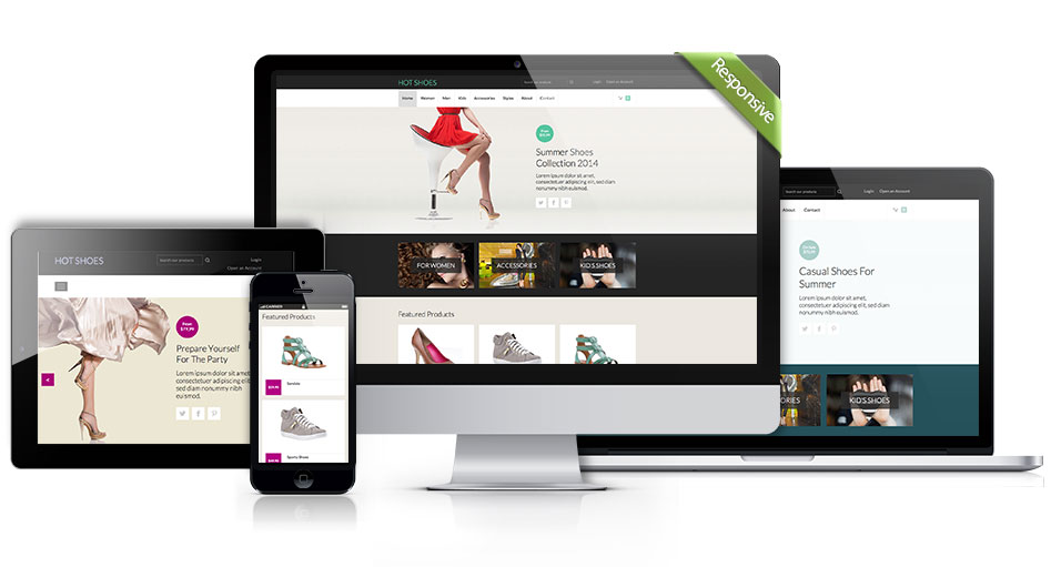 Responsive Shoes template