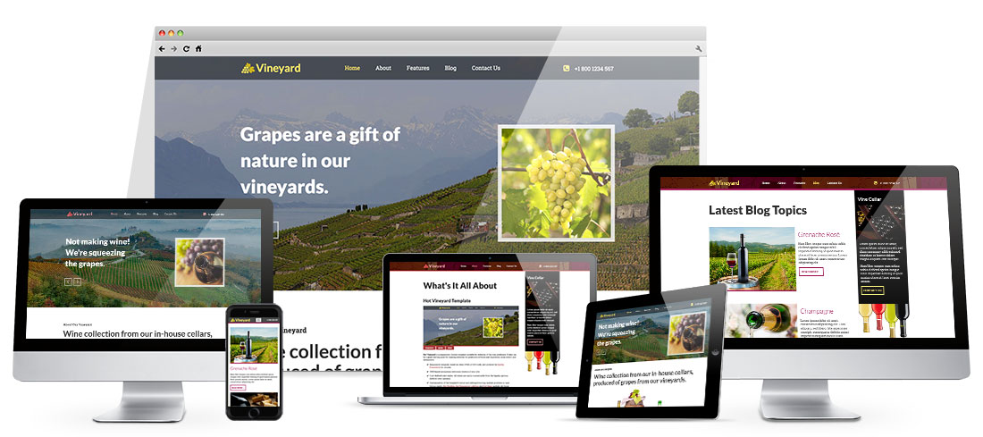 Responsive Vineyard Template