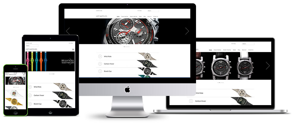Responsive Joomla Watches template