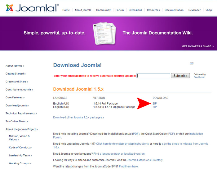 How to Install Joomla 1.5
