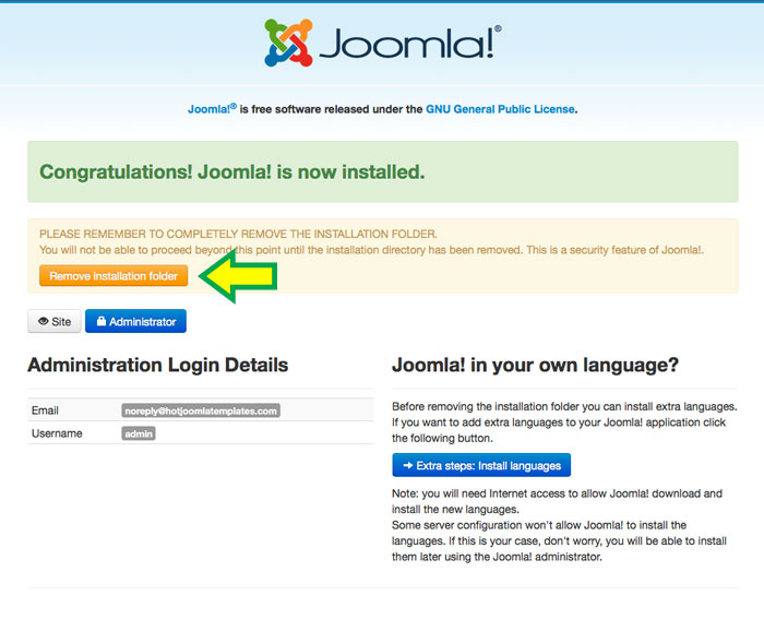 hotstart installation method for joomla 3 x copy demo data