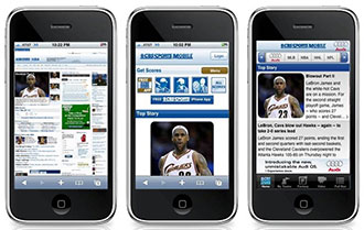responsive web design on iphone